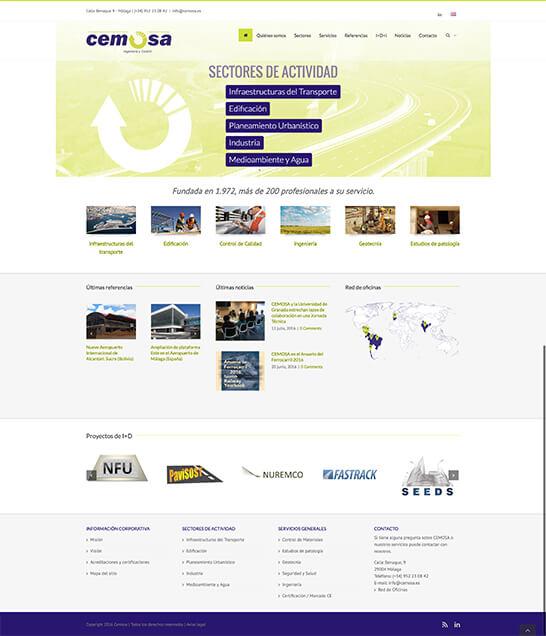 Web de CEMOSA