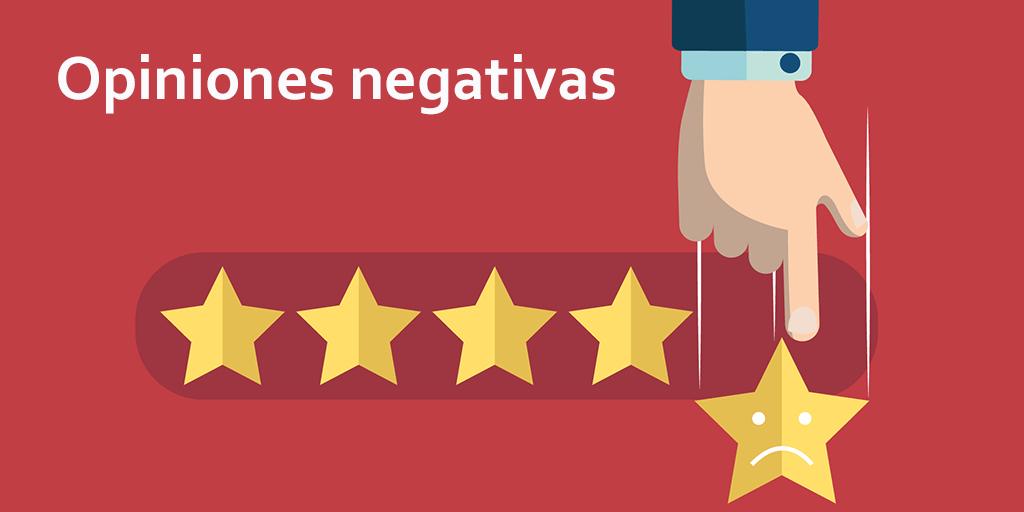 opiniones negativas en google