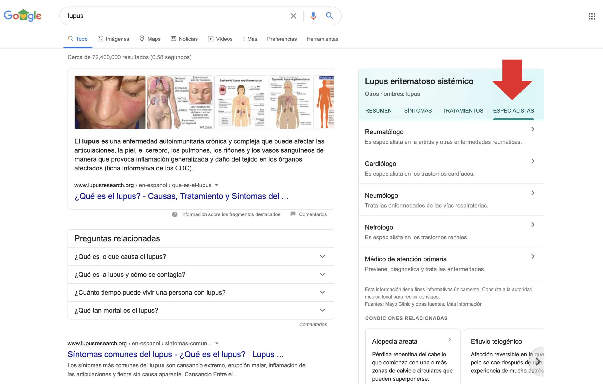 Posicionamiento en busquedas medicos especialistas